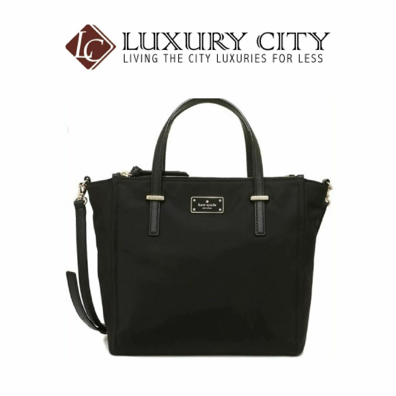 [Luxury City] Kate Spade Alyse Wilson Road Nylon Handbag Katespade-WKRU4715 (Black)
