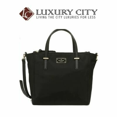[Luxury City] Kate Spade Alyse Wilson Road Nylon Handbag Katespade-WKRU4715 (Black)