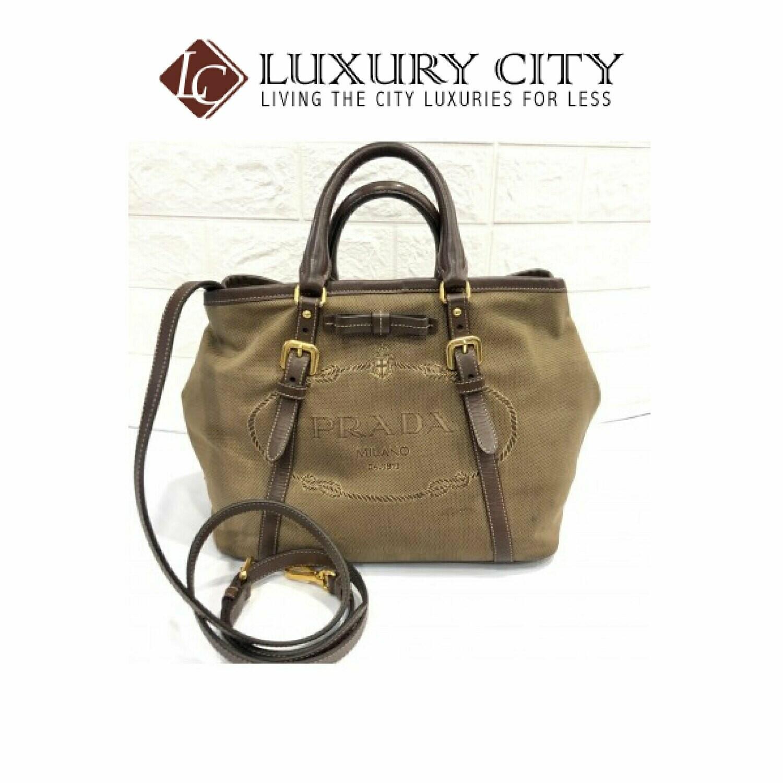 [Luxury City] Preloved Prada Fabric Sling Bag