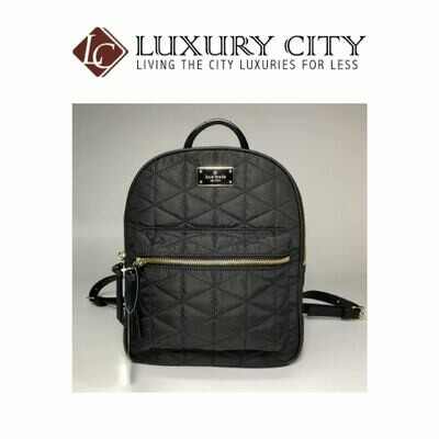 [Luxury City] Kate Spade New York Blake Avenue Small Bradley Backpack Black Quilted NWT
