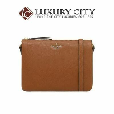 [Luxury City] Kate Spade New York Triple Gusset Crossbody Brown Katespade-WKRU5942