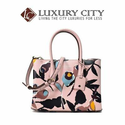 [Luxury City] Kate Spade Eva Paper Rose Small Top Zip Satchel Pink Katespade-WKRU6120