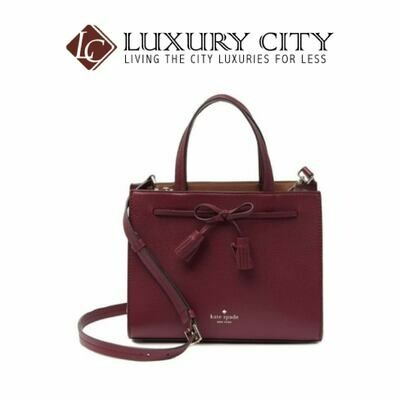 [Luxury City] Kate Spade New York Hayes Leather Satchel Maroon/Wine Katespade-WKRU5775