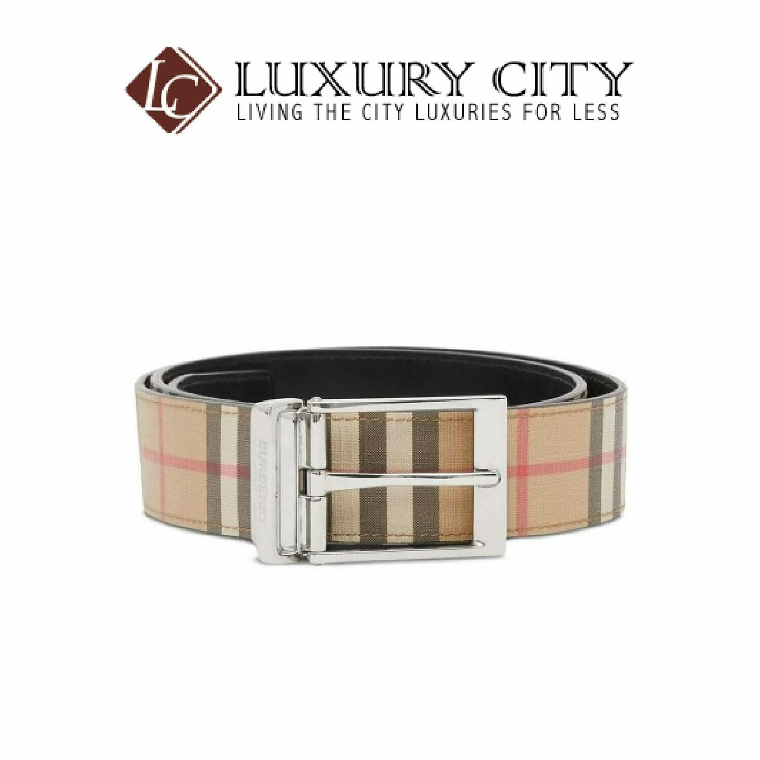 [Luxury City] Burberry Reversible Vintage Check Belt Burberry-8025136