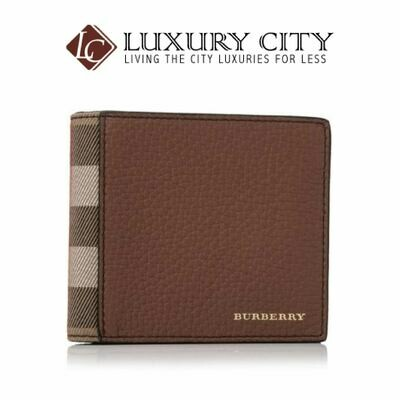 [Luxury City] Burberry Grainy Leather House Check Regular 8 Credit Card Billfold Wallet Brown Burberry-40619951