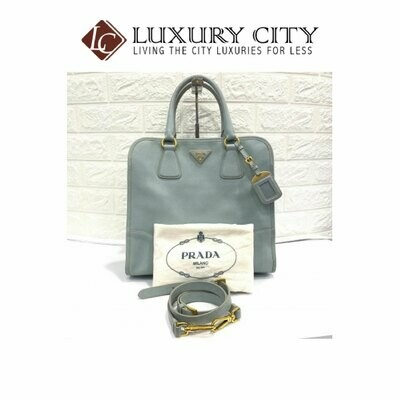 [Luxury City] Preloved Prada Saffiano 2 Ways Carry Bag