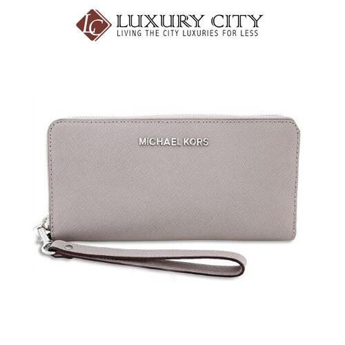 [Luxury City] Michael Kors Jet Set Travel Saffiano Continental Wallet MK-32S5STVE9L081