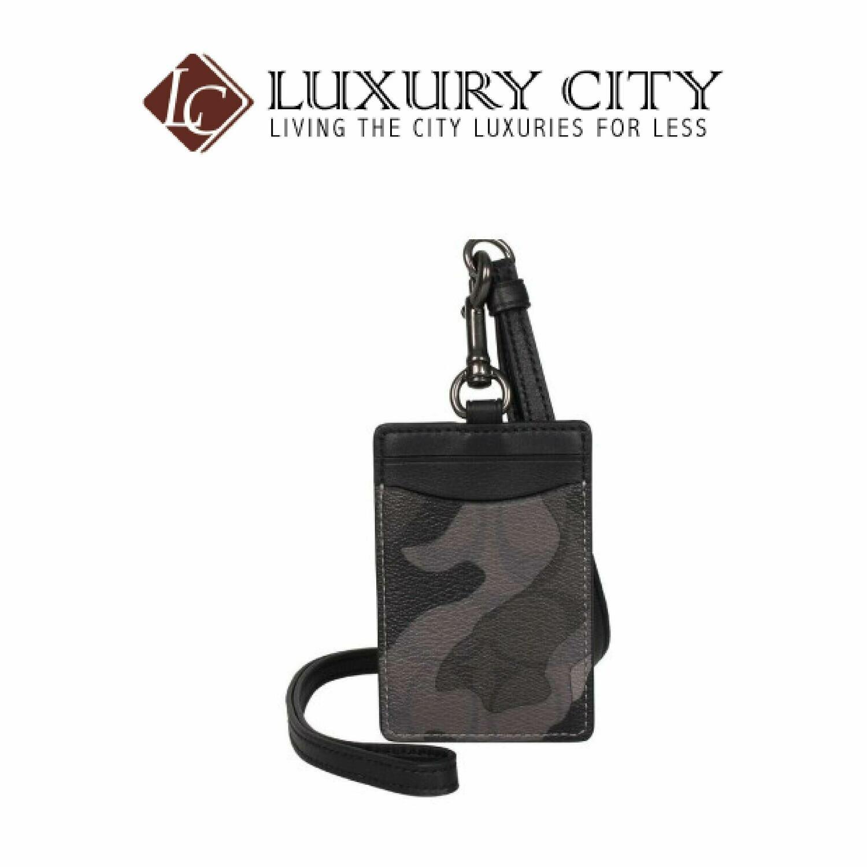 [Luxury City] Coach Mens ID Badge Lanyard With Card Slot Grey Ink Camo Coach-F88268