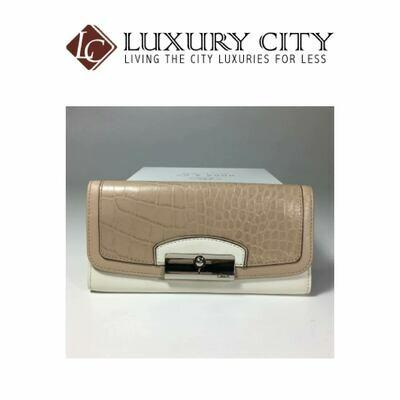 [Luxury City] Coach Kristin Spectator Leather Slim Envelope (Coach F49007) in Beige