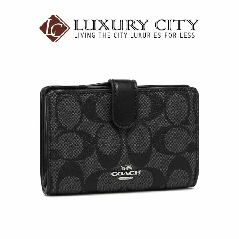 [Luxury City] Coach Folio Wallet Outlet Lady's Coach F23553 SVDK6 Black