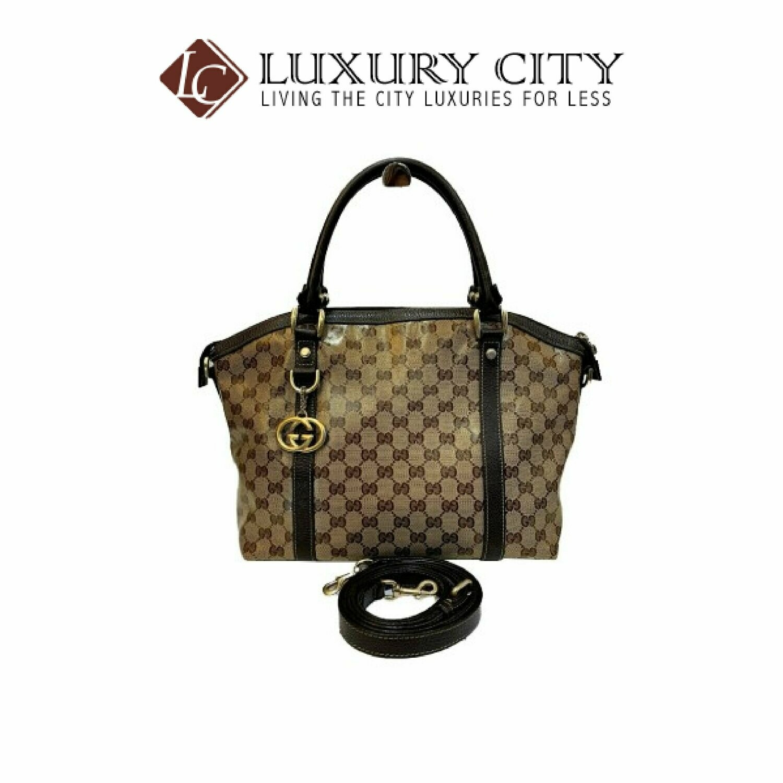 [Luxury City] Preloved Authentic Gucci Monogram Handbag