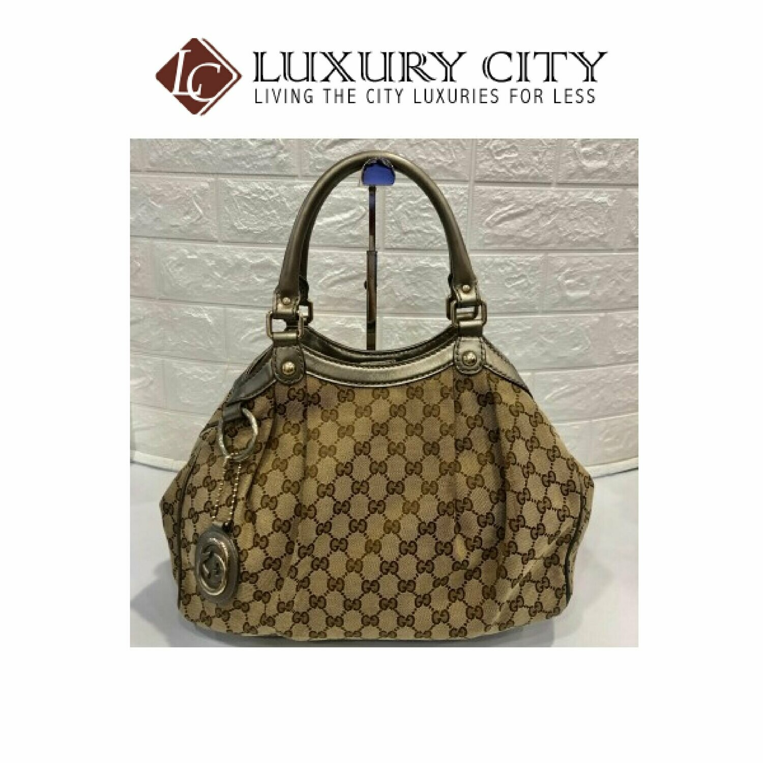 [Luxury City] Used Gucci Fabric shoulder Carry Bag