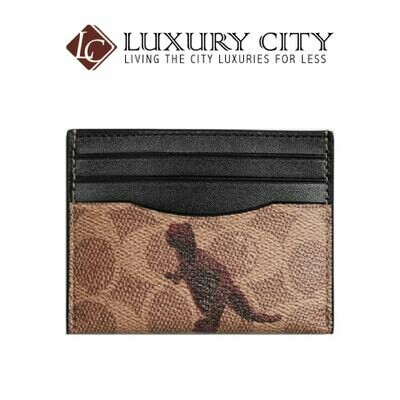 [Luxury City] Coach Card Case in Signature Canvas with Rexy By Sui Jianguo Coach-76000