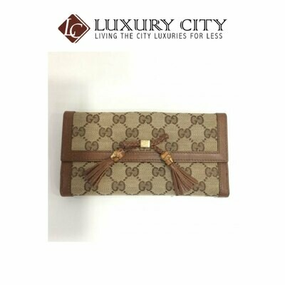 [Luxury City] Preloved Gucci Fabric Long Wallet