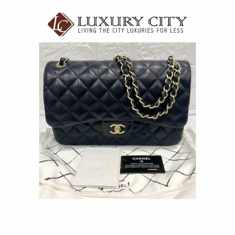 [Luxury City] Preloved Never used Chanel Classic Jumbo Double Flap lambskin (full set)