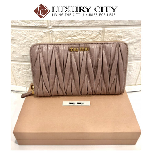 [Luxury City] Kept Never Use, MiuMiu Zip Around Long Wallet