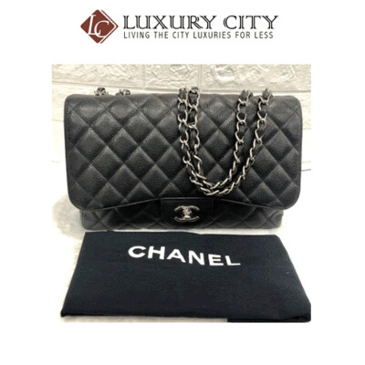 [Luxury City] Preloved Chanel Classic Single Flap Caviar Leather Bag