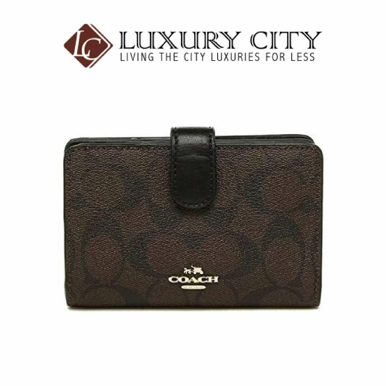 [Luxury City] Coach Medium Corner Zip Wallet Signature Brown/Mahogany Coach-F23553