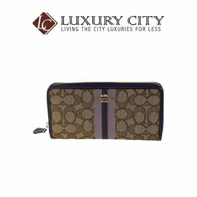 [Luxury City] Coach Long Wallet Purple X Multi System Coach-F39139