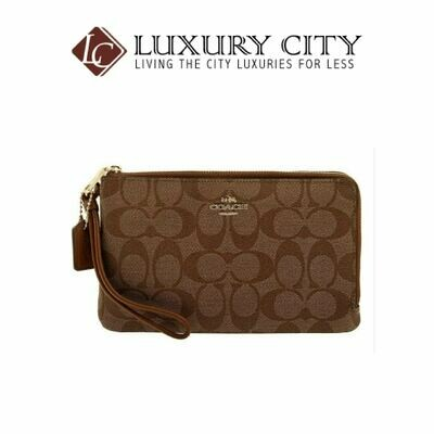 [Luxury City] Coach Signature PVC Double Zip Wallet Wrislet Coach-F16109