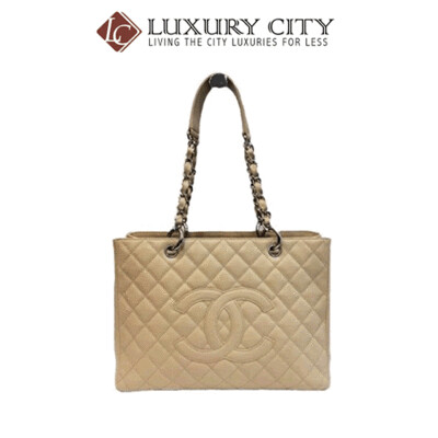 [Luxury City] Preloved Authentic Chanel Gst Bag Beige