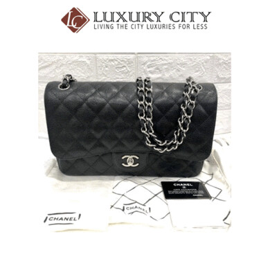 [Luxury City] Preloved Authentic Chanel Classic Black Quilted Shoulder Bag