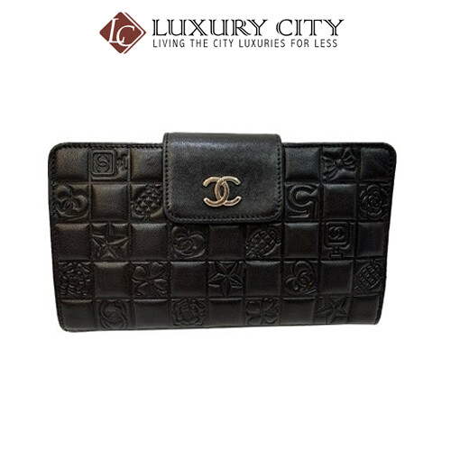 [Luxury City] Preloved Authentic Chanel Black Quilted Travel Wallet