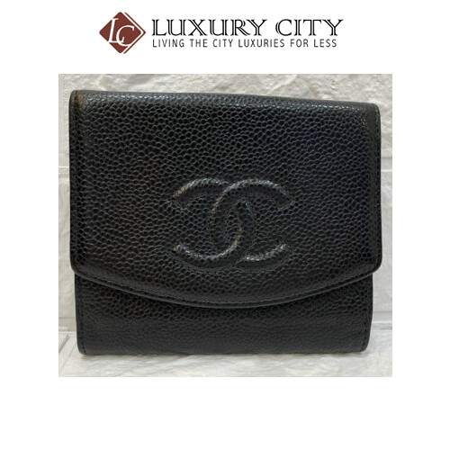 [Luxury City] Preloved Vintage Chanel Caviar Short Wallet