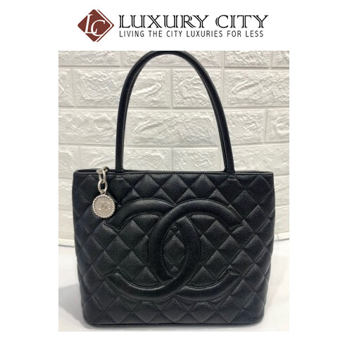 [Luxury City] Preloved Vintage Chanel Medallion Leather Handbag