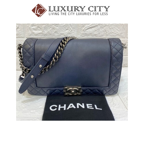 [Luxury City] Preloved Chanel Leboy Medium Size