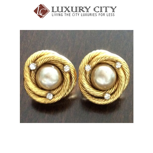 [Luxury City] Preloved Vintage Chanel Gold Plated Earring