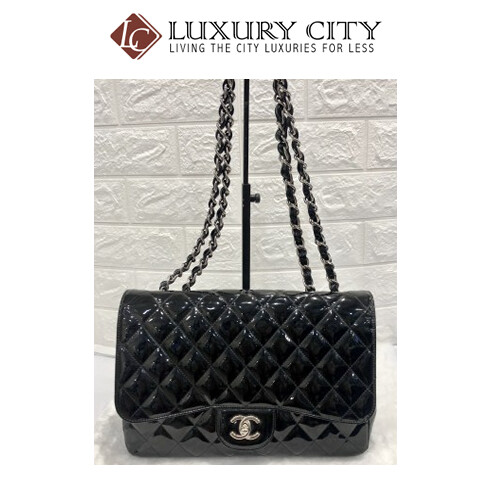 [Luxury City] Preloved Used Chanel Patent Leather Single Flap
