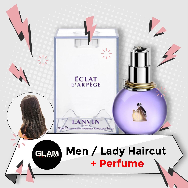 Glam Hair Station Hair Cut Service + Perfume (Lanvin Eclat EDP Lady 30ml) Package