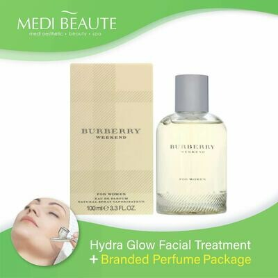 Medi Beaute Hydra Glow Facial + Branded Perfume ( Burberry Weekend Lady EDP 100ml) Package