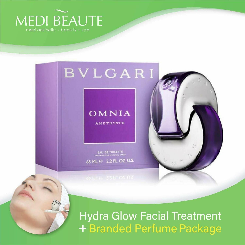 Medi Beaute Hydra Glow Facial + Branded Perfume ( Bvlgari Amethyste Lady EDT 65ml) Package