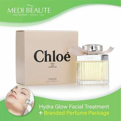 Medi Beaute Hydra Glow Facial + Branded Perfume ( Chloe Classic Chloe Lady EDP 75ml) Package