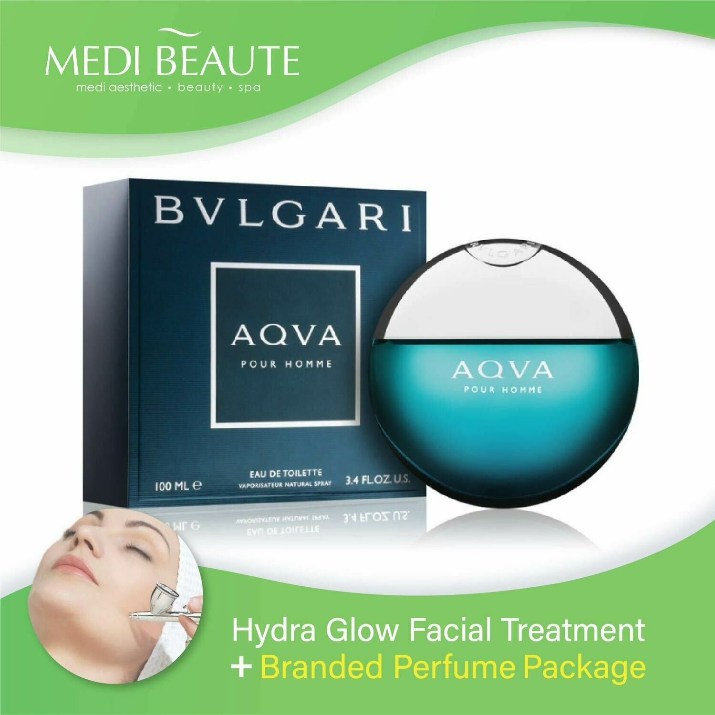 Medi Beaute Hydra Glow Facial + Branded Perfume ( Bvlgari AQVA Men EDT 100ml) Package