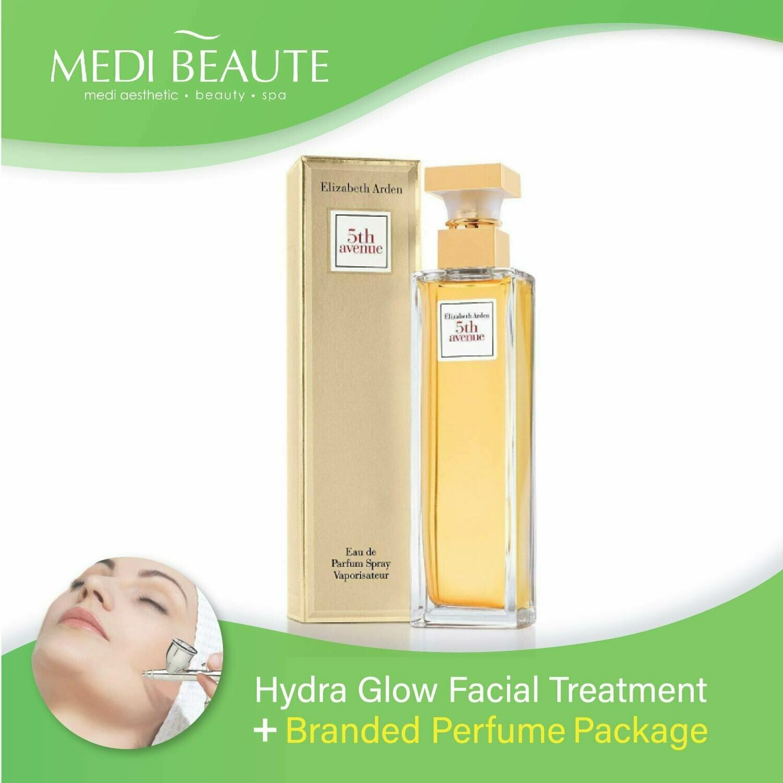 Medi Beaute Hydra Glow Facial + Branded Perfume ( Elizabeth Arden 5th Avenue EDP Lady 125ml) Package