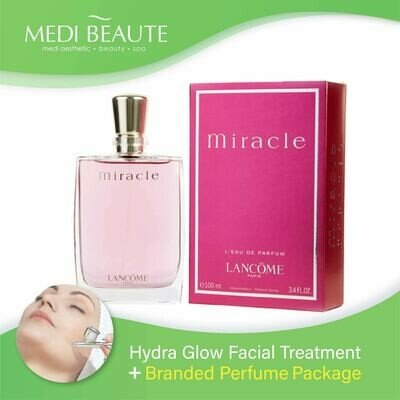 Medi Beaute Hydra Glow Facial + Branded Perfume ( Lancome Miracle EDP Lady 100ml) Package