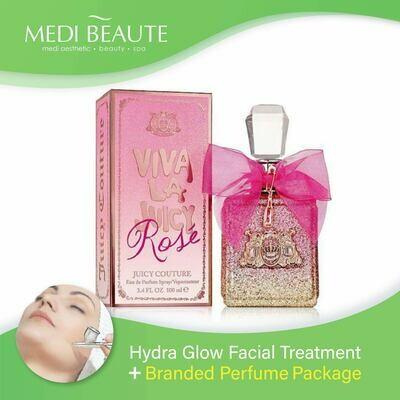 Medi Beaute Hydra Glow Facial + Branded Perfume ( Juicy Couture Viva La Juicy Rose EDP Lady 100ml ) Package