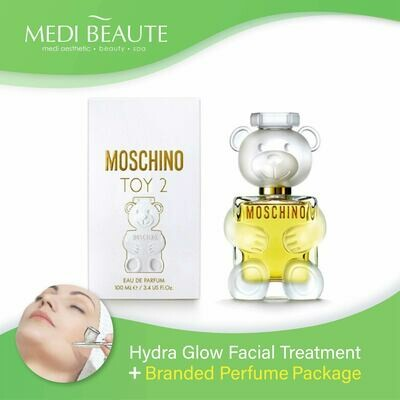 Medi Beaute Hydra Glow Facial + Branded Perfume ( Moschino Toy 2 EDP Lady 100ml ) Package