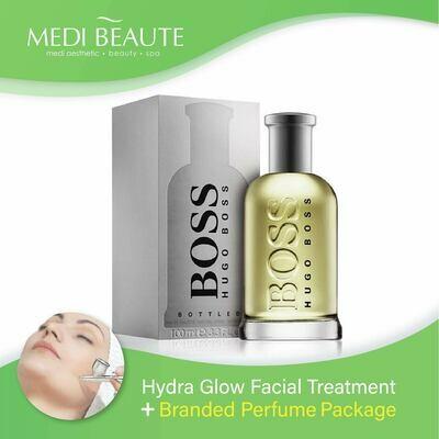 Medi Beaute Hydra Glow Facial + Branded Perfume ( Hugo Boss Bottled No.6 EDT Men 100ml) Package