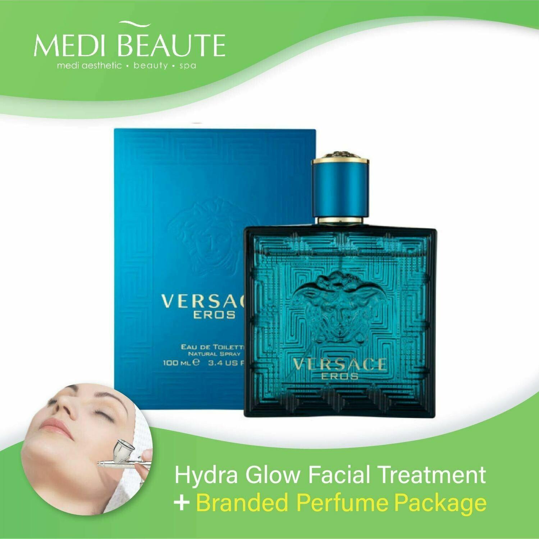 Medi Beaute Hydra Glow Facial + Branded Perfume ( Versace EROS EDT Men 100ml ) Package