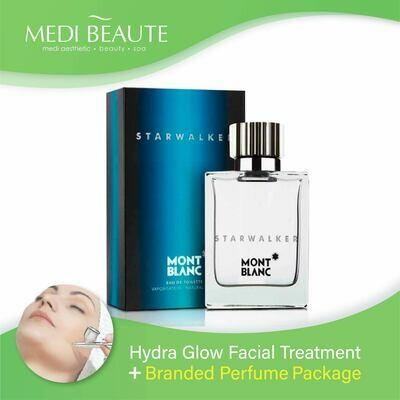 Medi Beaute Hydra Glow Facial + Branded Perfume ( Mont Blanc Starwalker EDT Men 75ml ) Package