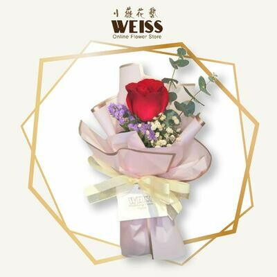 Weiss Florist 1stk red roses (Free Shipping! Only deliver in JB)