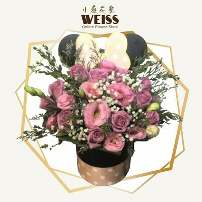 Weiss Florist Eustoma with boxes (Free Shipping! Only deliver in JB)