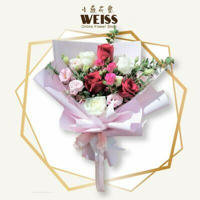 Weiss Florist 6stk roses (Free Shipping! Only deliver in JB)