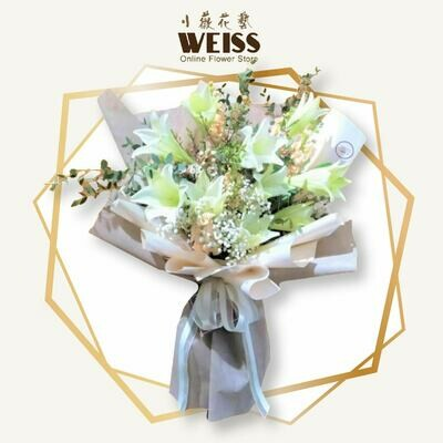 Weiss Florist 9stk lilies (Free Shipping! Only deliver in JB)