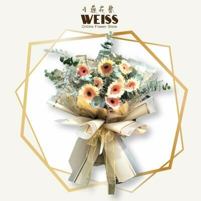 Weiss Florist 9stk daisy (Free Shipping! Only deliver in JB)