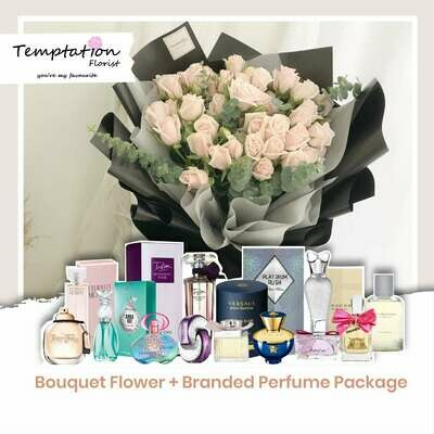 Temptation Florist Lafre Bouquet+ Branded Perfume Package (Free Shipping! Only Deliver in Seremban)